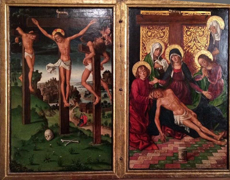 Diptico del Calvario y la Piedad de Pedro Berruguete Museo Catedral San Antolin Palencia 04