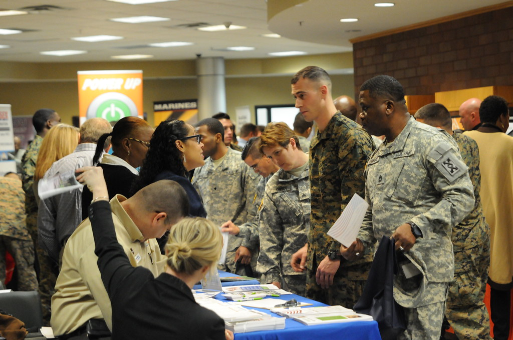 Hiring our heroes Service members veterans engage with c  Flickr
