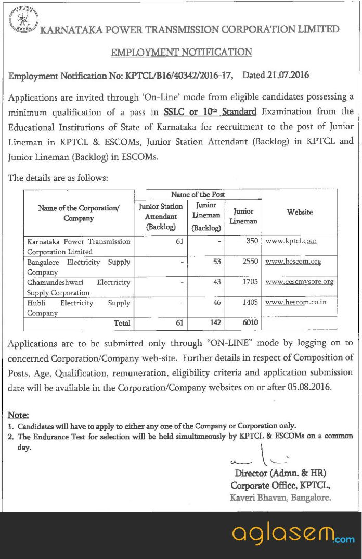 CESCOM Mysore Recruitment