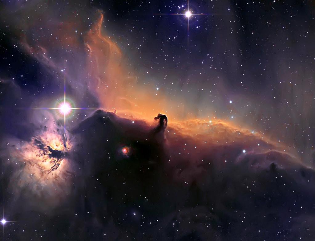 3d Space Wallpaper Uk Ic434 The Horsehead And Flame Nebula The Horsehead