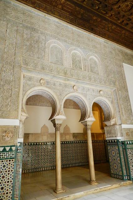 Arcos de separacion entre las dos salas de la Alcoba Real Alcazar de Sevilla 20