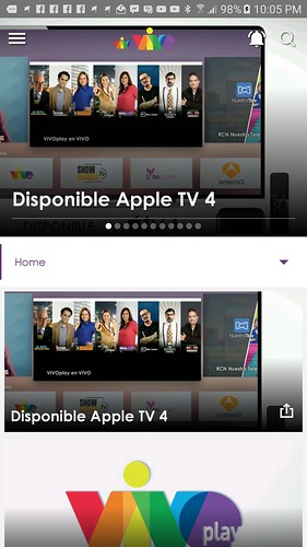 Ahora VivoPlay esta disponible en la plataforma de Apple TV.