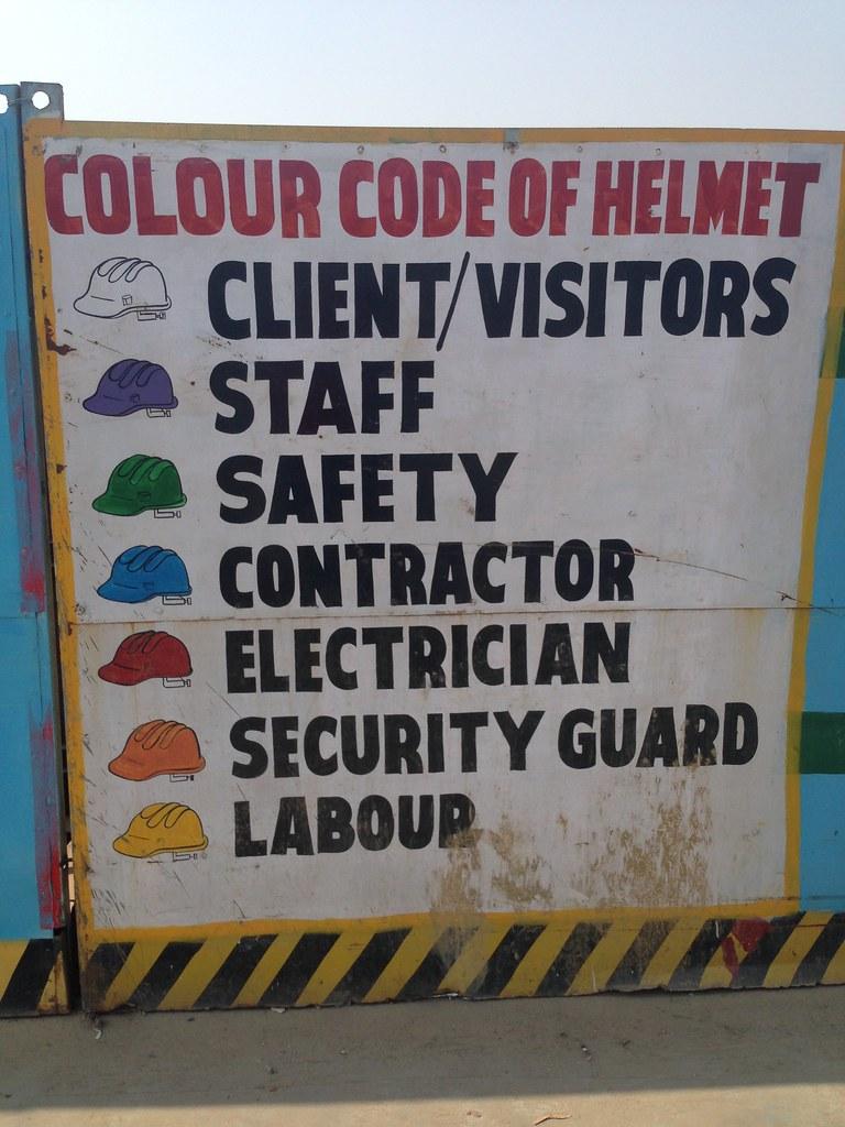 medium resolution of  delhi metro construction worker helmet color codes by wayan vota
