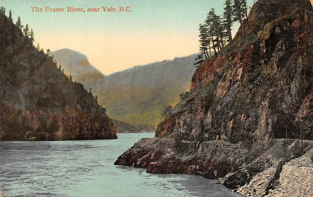 Postcard Fraser Canyon near Yale BC c1910  The