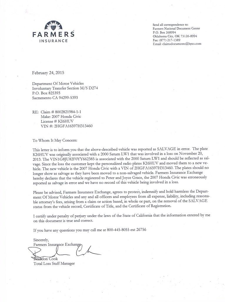 Letter from Farmers Insurance  Peter  Joyce Grace  Flickr