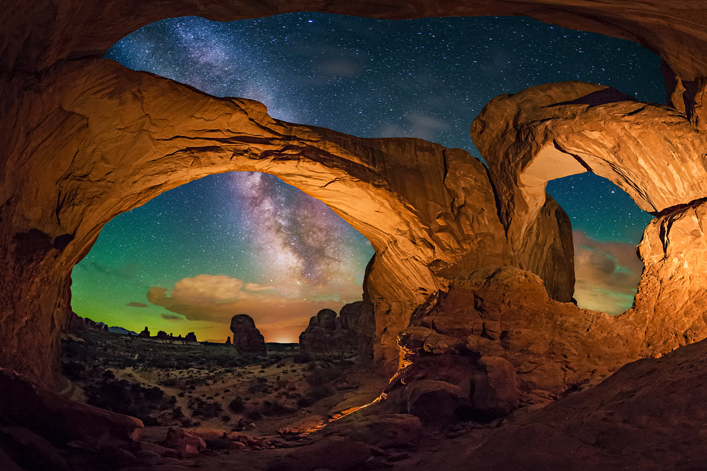 Astronomy Wallpaper Hd Double Arch Panorama Panorama Of Double Arch In Arches