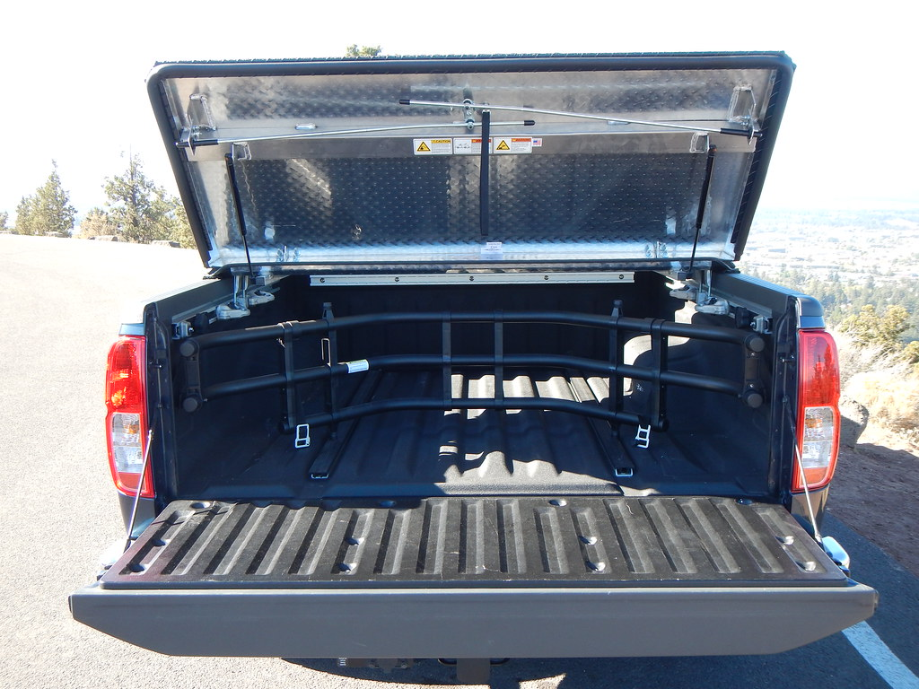 Hard Truck Bed Cover on a Nissan Frontier  A Rugged Black D  Flickr