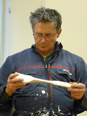 Carving a serving spoon