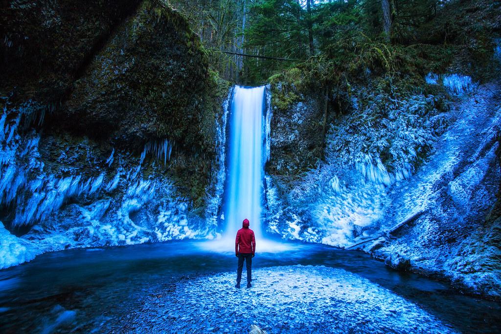Multnomah Falls Oregon Winter Wallpaper Weisendanger Falls In The Columbia River Gorge Ice By Mi