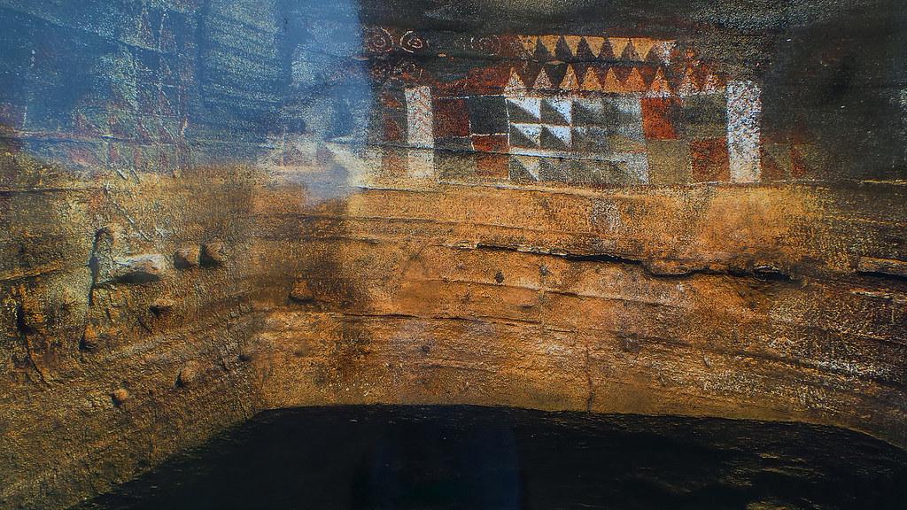 Cueva Pintada de Gldar  Exposicin al aire libre Escrito