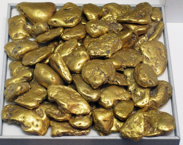 Gold Fluvial Pebbles Placer Washington State Usa