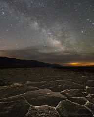 Milky Way Over Badwater Salt Flats