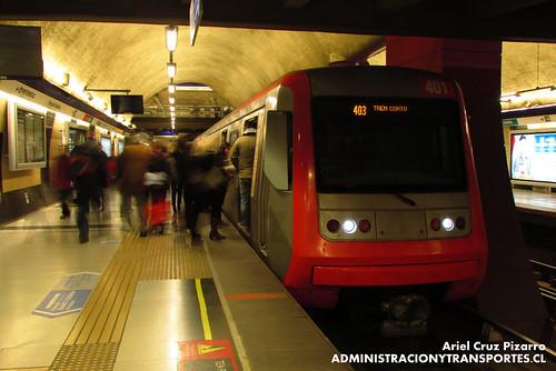 Metro de Santiago - Alstom AS2002 R4401 - Plaza Egaña (L4)