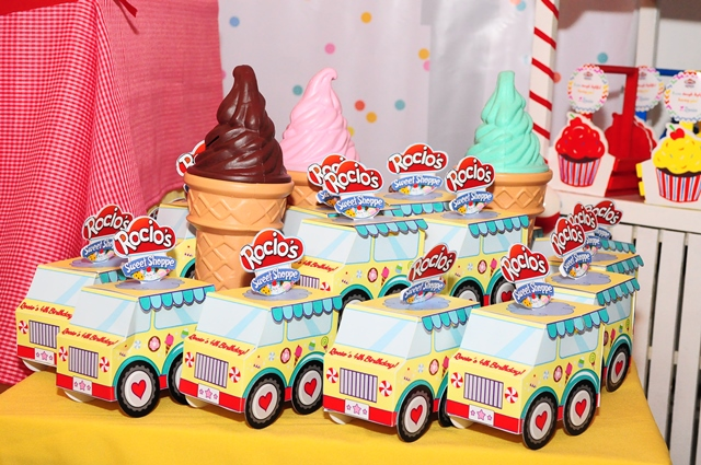 Sweet Shoppe Truck Favor Boxes