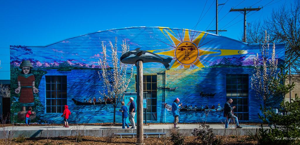 2015  Olympia WA  Boardwalk Mural  Olympia has many