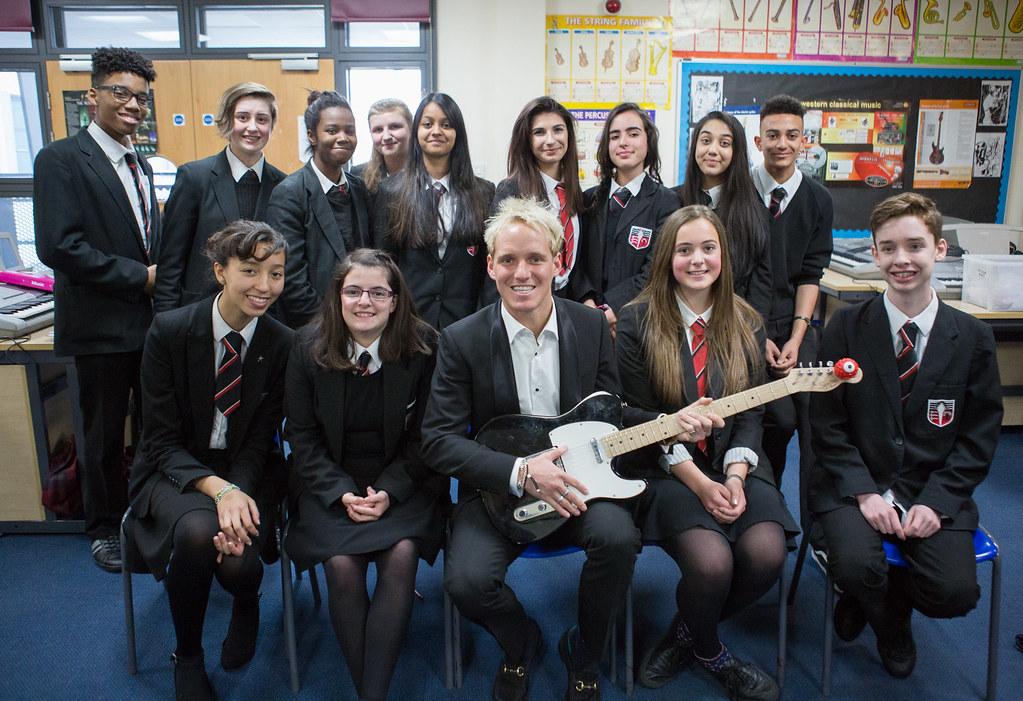 Jamie Laing Visits Brentside High School In Ealing Flickr
