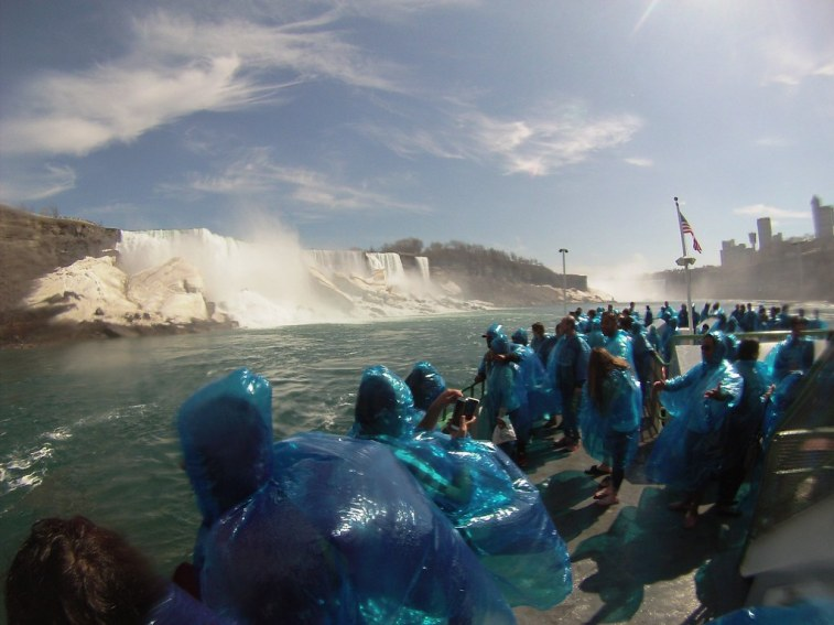 Maid of the Mist and the American Falls, May 2, 2015