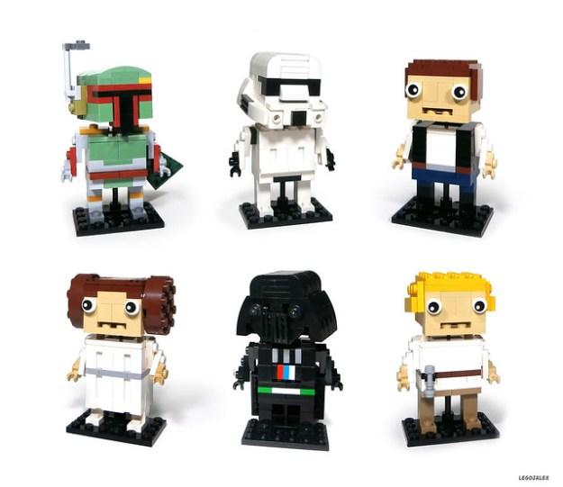 All six Star Wars Bobblehead figures