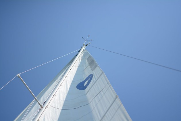 Sailing the high lakes. Lake Michigan.