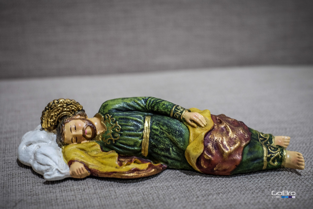 Sleeping St Joseph  Pope Francis has a statuette of St