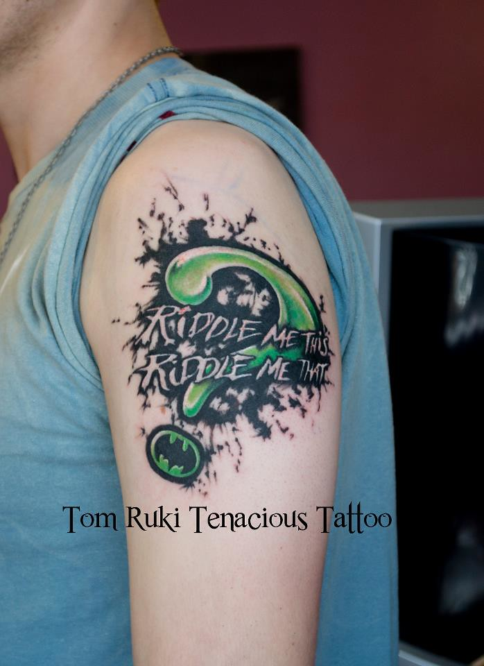 Riddle Me This  Custom Tattoo design by Tom Ruki For bookin  Flickr