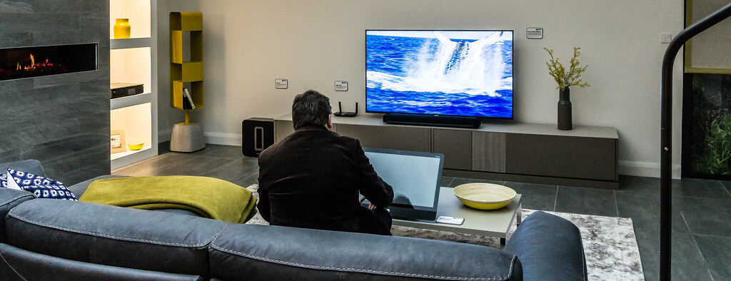 A SONY 4K TV NORMAN HARVEY CONNECTED HOME SHOWHOUSE IDE