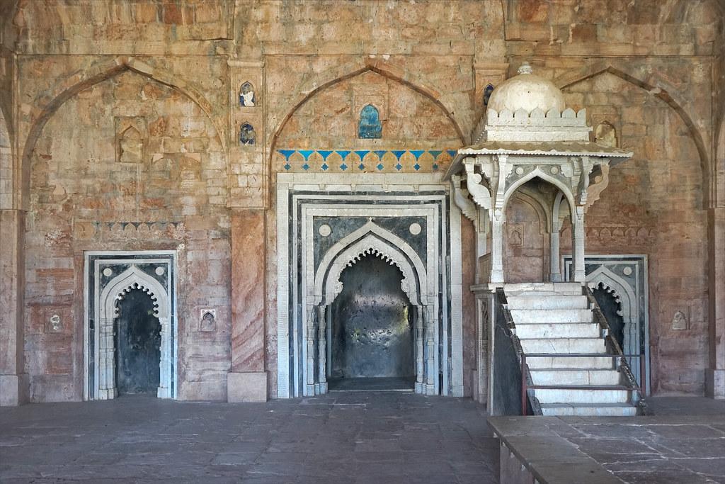 La salle de prire de la mosque Jama Masjid Mandu Inde  Flickr