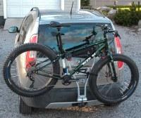 Fatbike on bike rack in back of car | Kona Wo 2015 fatbike ...
