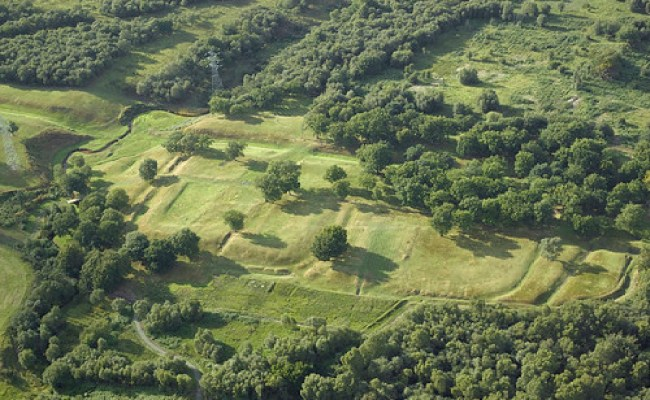 Rough Castle Roman Fort On The Antonine Wall Scotland In