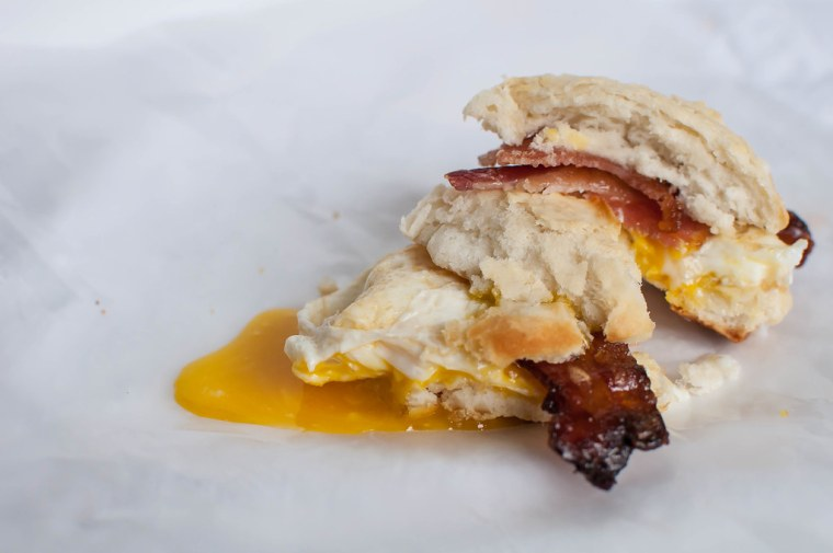 Maple and Brown Sugar Bacon and Egg Biscuits 5
