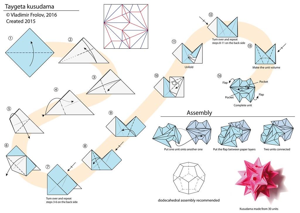origami flower diagram in english 2001 ford super duty wiring taygeta kusudama - | vladimir phrolov flickr