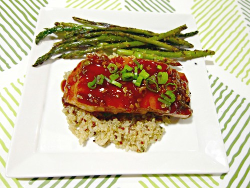 Salmon with Balsamic Thai Chili Glaze