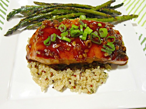 Salmon with Balsamic Thai Chili Glaze 2