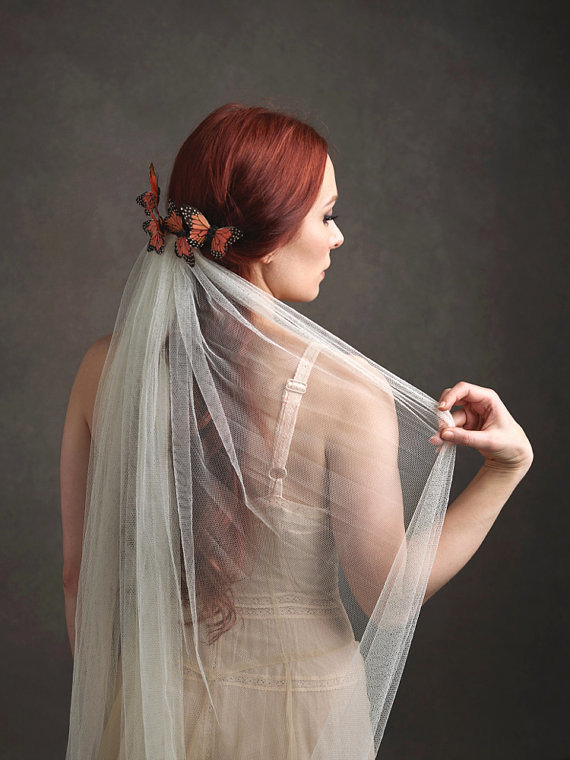 Florence Butterfly Wedding Veil Butterfly Headpiece