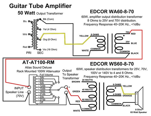 8 ohm wiring diagram simulator connecting guitar tube amp to external line match audio step up click the image open in full size