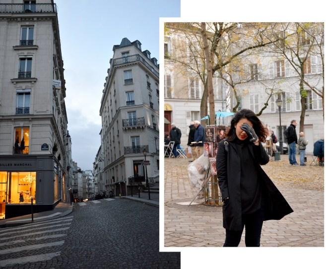 Place du Tertre, Montmartre, Paris, photography, architecture, paris street