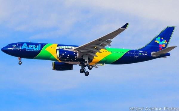 Azul Linhas Aéreas Brazilian Flag Livery PRAIV Airb