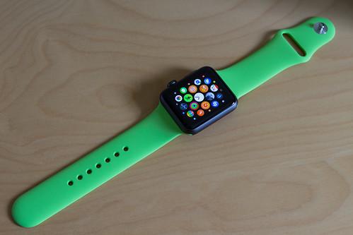 Apple Watch Green Sport Band Apple Watch 42mm Space