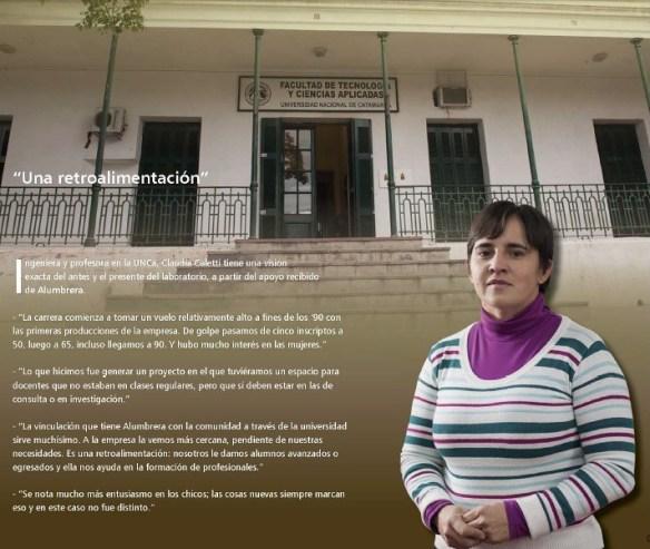 Profesora Claudia Caletti.