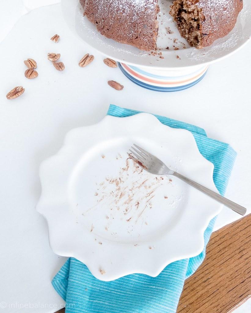 Chocolate Pecan Bundt Cake | infinebalance.com
