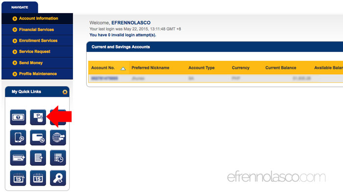 How to Pay Meralco Bill Online step 3