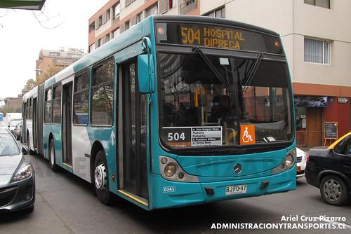 Transantiago - Metbus - Caio Mondego HA / Mercedes Benz (BJFD47)