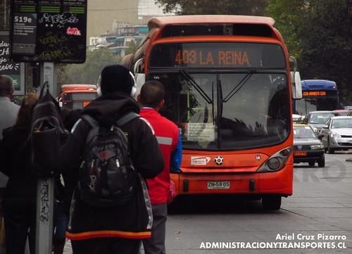 Transantiago (Fiscalización) - Express de Santiago Uno - Marcopolo Gran Viale / Volvo (ZN5805)