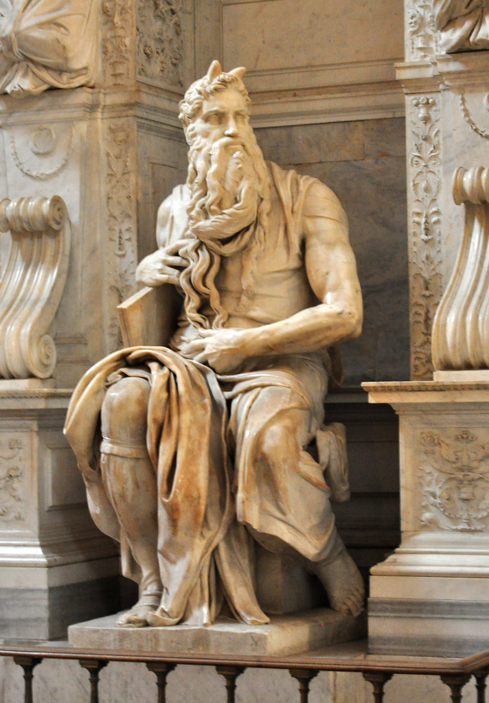 Moses by Michelangelo  From Wikipedia Pope Julius II