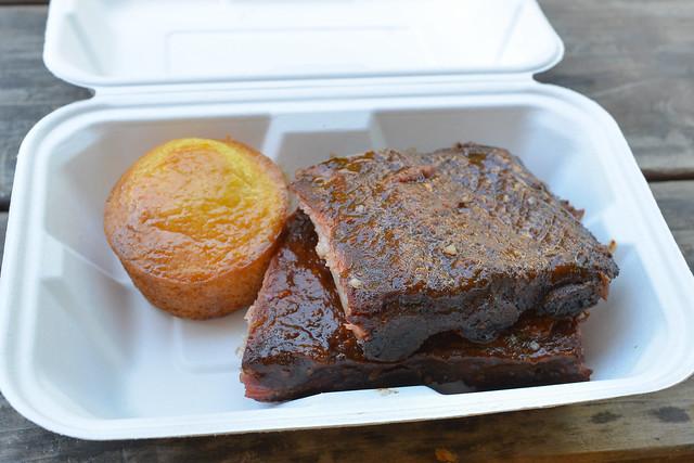BBQ Pork Ribs & Honey Cornbread