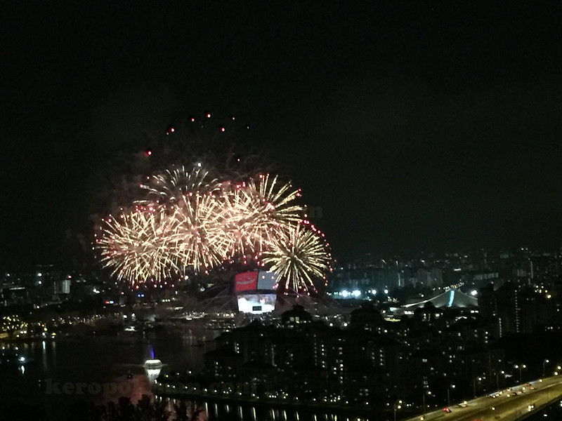 Fireworks from the Premier Room, The Ritz-Carlton Millenia Singapore
