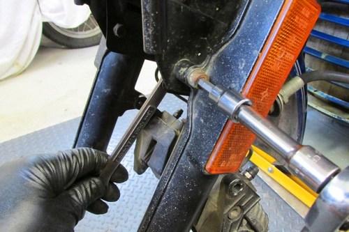 Removing Fork Brace