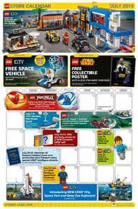 LEGO July 2015 Store Calendar Promos & Events