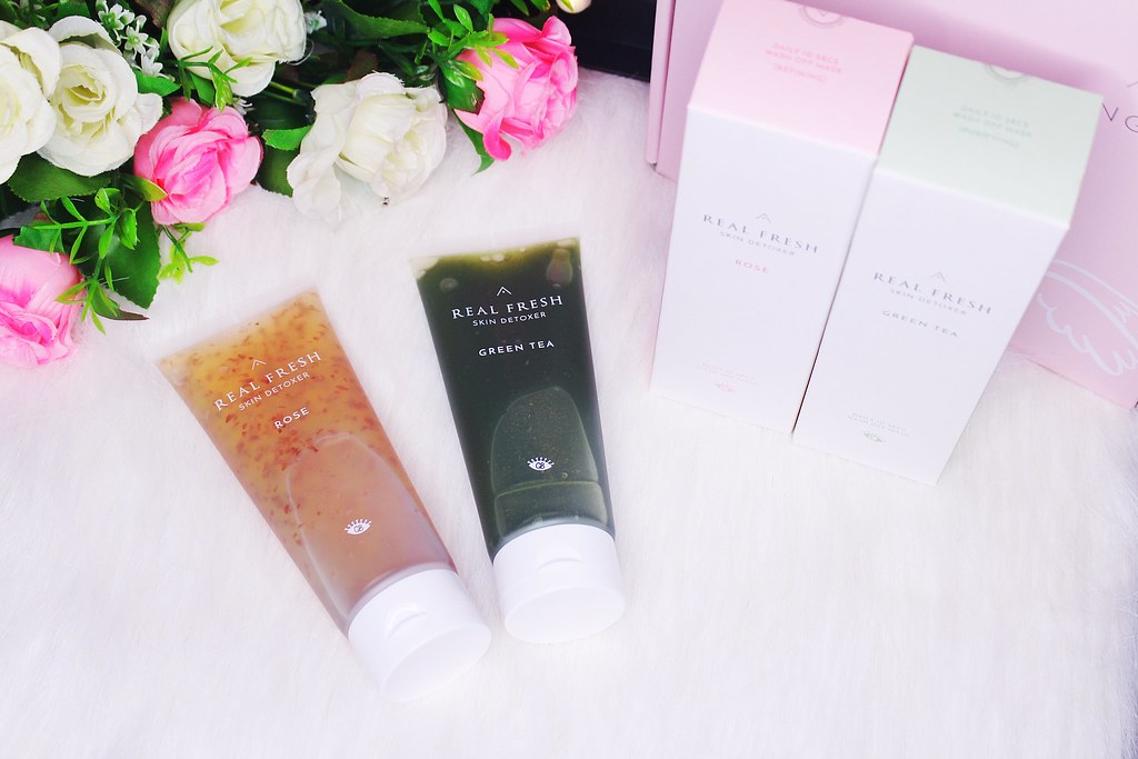 Real Fresh Skin Detoxer in two variants; Rose and Green Tea