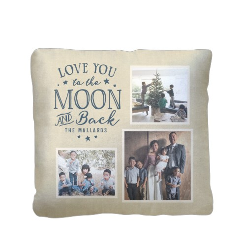 to the moon and back script pillow custom pillows home decor shutterfly